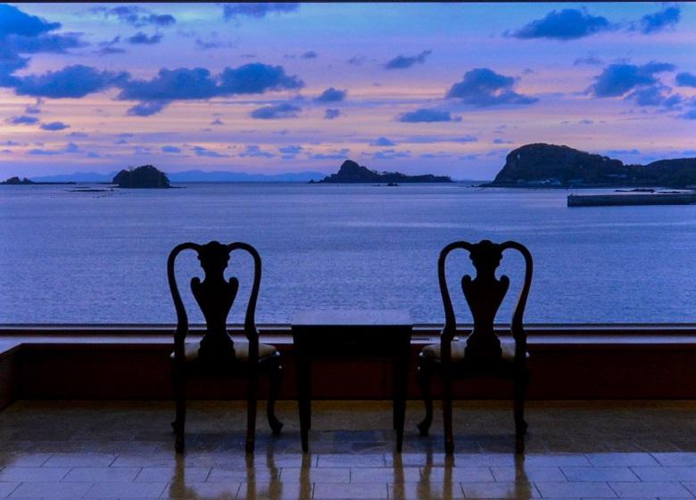 壱岐リトリート海里村上から眺める夕陽