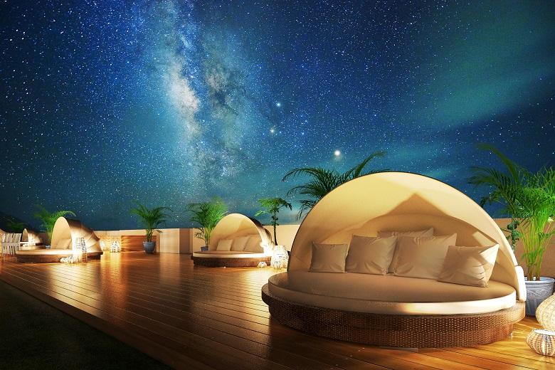 リゾート屋上にある星空テラス